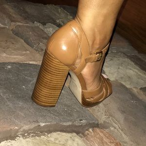 Michael Kors camel high heels